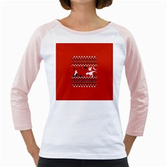 I Wasn t Good This Year, I Was Awesome! Ugly Holiday Christmas Red Background Girly Raglans