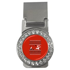 I Wasn t Good This Year, I Was Awesome! Ugly Holiday Christmas Red Background Money Clips (CZ)