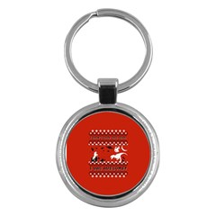 I Wasn t Good This Year, I Was Awesome! Ugly Holiday Christmas Red Background Key Chains (Round)