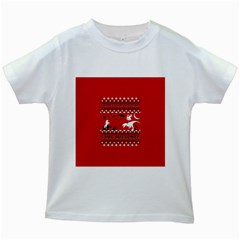 I Wasn t Good This Year, I Was Awesome! Ugly Holiday Christmas Red Background Kids White T-Shirts