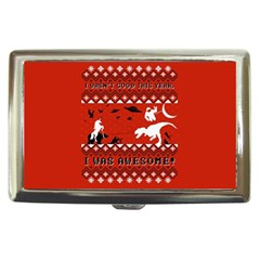I Wasn t Good This Year, I Was Awesome! Ugly Holiday Christmas Red Background Cigarette Money Cases