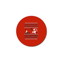 I Wasn t Good This Year, I Was Awesome! Ugly Holiday Christmas Red Background Golf Ball Marker (4 pack)