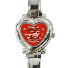 I Wasn t Good This Year, I Was Awesome! Ugly Holiday Christmas Red Background Heart Italian Charm Watch