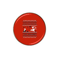 I Wasn t Good This Year, I Was Awesome! Ugly Holiday Christmas Red Background Hat Clip Ball Marker