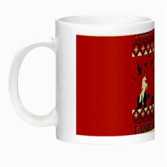 I Wasn t Good This Year, I Was Awesome! Ugly Holiday Christmas Red Background Night Luminous Mugs