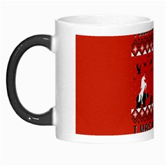 I Wasn t Good This Year, I Was Awesome! Ugly Holiday Christmas Red Background Morph Mugs