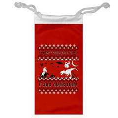 I Wasn t Good This Year, I Was Awesome! Ugly Holiday Christmas Red Background Jewelry Bags