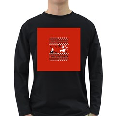 I Wasn t Good This Year, I Was Awesome! Ugly Holiday Christmas Red Background Long Sleeve Dark T-Shirts