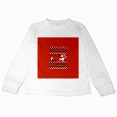 I Wasn t Good This Year, I Was Awesome! Ugly Holiday Christmas Red Background Kids Long Sleeve T-Shirts