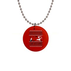 I Wasn t Good This Year, I Was Awesome! Ugly Holiday Christmas Red Background Button Necklaces