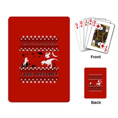 I Wasn t Good This Year, I Was Awesome! Ugly Holiday Christmas Red Background Playing Card