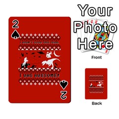 I Wasn t Good This Year, I Was Awesome! Ugly Holiday Christmas Red Background Playing Cards 54 Designs