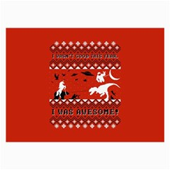 I Wasn t Good This Year, I Was Awesome! Ugly Holiday Christmas Red Background Collage Prints