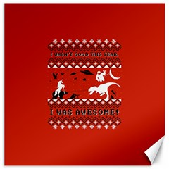 I Wasn t Good This Year, I Was Awesome! Ugly Holiday Christmas Red Background Canvas 12  x 12