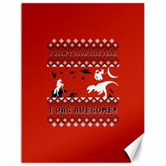 I Wasn t Good This Year, I Was Awesome! Ugly Holiday Christmas Red Background Canvas 18  x 24