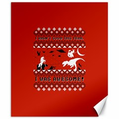 I Wasn t Good This Year, I Was Awesome! Ugly Holiday Christmas Red Background Canvas 20  x 24
