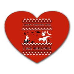 I Wasn t Good This Year, I Was Awesome! Ugly Holiday Christmas Red Background Heart Mousepads