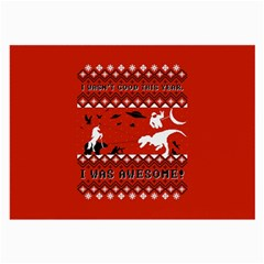 I Wasn t Good This Year, I Was Awesome! Ugly Holiday Christmas Red Background Large Glasses Cloth