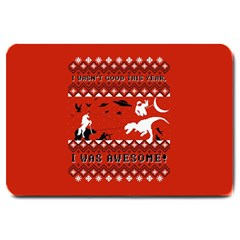 I Wasn t Good This Year, I Was Awesome! Ugly Holiday Christmas Red Background Large Doormat