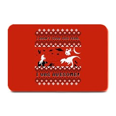 I Wasn t Good This Year, I Was Awesome! Ugly Holiday Christmas Red Background Plate Mats