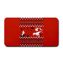 I Wasn t Good This Year, I Was Awesome! Ugly Holiday Christmas Red Background Medium Bar Mats
