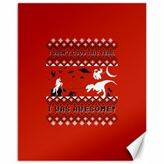 I Wasn t Good This Year, I Was Awesome! Ugly Holiday Christmas Red Background Canvas 11  x 14