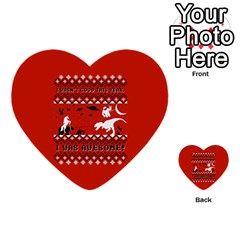 I Wasn t Good This Year, I Was Awesome! Ugly Holiday Christmas Red Background Multi-purpose Cards (Heart)