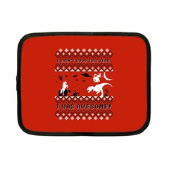 I Wasn t Good This Year, I Was Awesome! Ugly Holiday Christmas Red Background Netbook Case (Small)