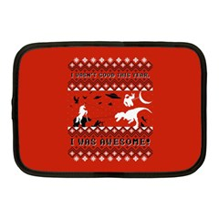 I Wasn t Good This Year, I Was Awesome! Ugly Holiday Christmas Red Background Netbook Case (Medium)