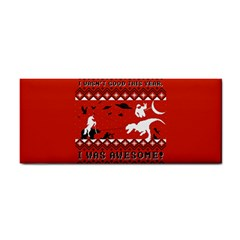 I Wasn t Good This Year, I Was Awesome! Ugly Holiday Christmas Red Background Hand Towel