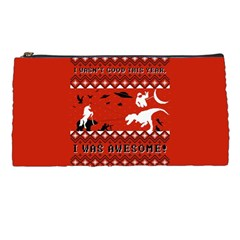 I Wasn t Good This Year, I Was Awesome! Ugly Holiday Christmas Red Background Pencil Cases