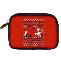 I Wasn t Good This Year, I Was Awesome! Ugly Holiday Christmas Red Background Digital Camera Cases