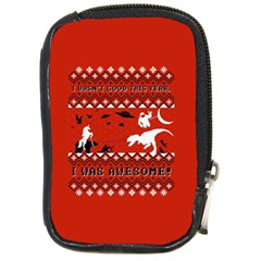 I Wasn t Good This Year, I Was Awesome! Ugly Holiday Christmas Red Background Compact Camera Cases