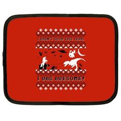 I Wasn t Good This Year, I Was Awesome! Ugly Holiday Christmas Red Background Netbook Case (XXL)