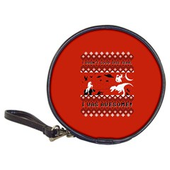 I Wasn t Good This Year, I Was Awesome! Ugly Holiday Christmas Red Background Classic 20-CD Wallets