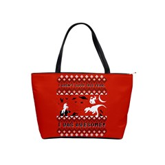 I Wasn t Good This Year, I Was Awesome! Ugly Holiday Christmas Red Background Shoulder Handbags