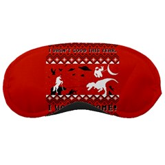 I Wasn t Good This Year, I Was Awesome! Ugly Holiday Christmas Red Background Sleeping Masks