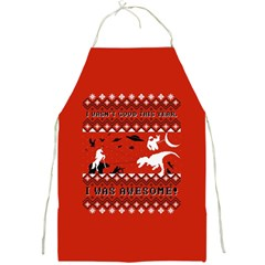 I Wasn t Good This Year, I Was Awesome! Ugly Holiday Christmas Red Background Full Print Aprons