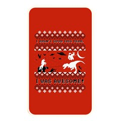 I Wasn t Good This Year, I Was Awesome! Ugly Holiday Christmas Red Background Memory Card Reader