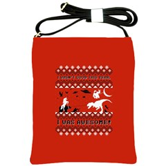 I Wasn t Good This Year, I Was Awesome! Ugly Holiday Christmas Red Background Shoulder Sling Bags