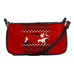 I Wasn t Good This Year, I Was Awesome! Ugly Holiday Christmas Red Background Shoulder Clutch Bags