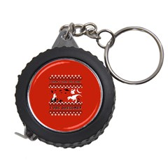 I Wasn t Good This Year, I Was Awesome! Ugly Holiday Christmas Red Background Measuring Tapes