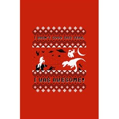 I Wasn t Good This Year, I Was Awesome! Ugly Holiday Christmas Red Background 5.5  x 8.5  Notebooks