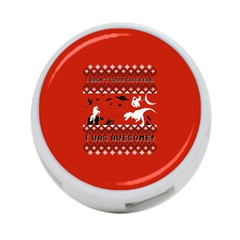 I Wasn t Good This Year, I Was Awesome! Ugly Holiday Christmas Red Background 4-Port USB Hub (Two Sides)
