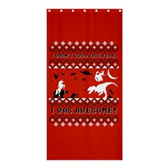 I Wasn t Good This Year, I Was Awesome! Ugly Holiday Christmas Red Background Shower Curtain 36  x 72  (Stall)