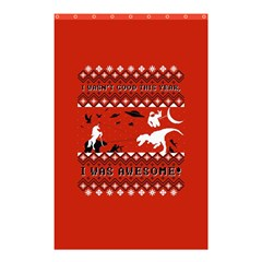 I Wasn t Good This Year, I Was Awesome! Ugly Holiday Christmas Red Background Shower Curtain 48  x 72  (Small)