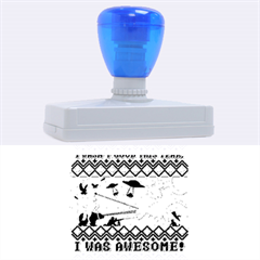 I Wasn t Good This Year, I Was Awesome! Ugly Holiday Christmas Red Background Rubber Address Stamps (XL)