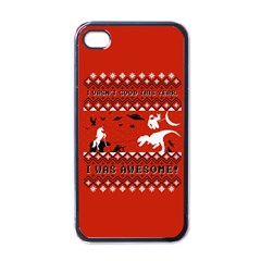 I Wasn t Good This Year, I Was Awesome! Ugly Holiday Christmas Red Background Apple iPhone 4 Case (Black)