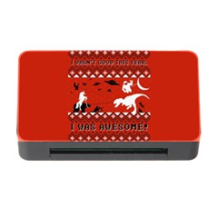 I Wasn t Good This Year, I Was Awesome! Ugly Holiday Christmas Red Background Memory Card Reader with CF