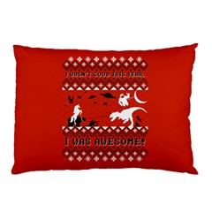 I Wasn t Good This Year, I Was Awesome! Ugly Holiday Christmas Red Background Pillow Case (Two Sides)